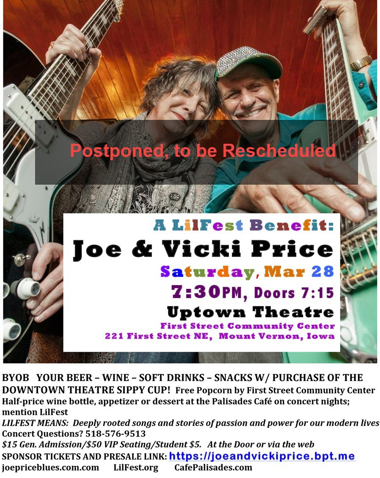 Joe & Vicki Price Postponed