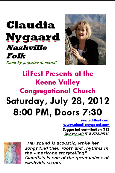 Claudia Nygard at Keene Valley Congregational Church